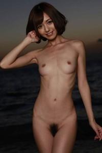 Model Aino Kishi in Falling Sun