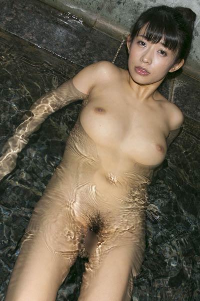 Model Sasa Handa in Midnight Bath